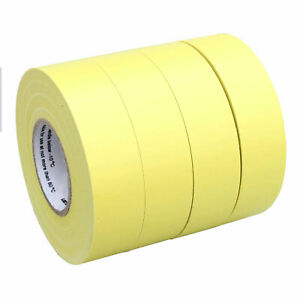 4 Rolls Yellow Electrical Insulating Tape Vinyl 3 4 Inch 20 Yards Ul Listed