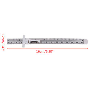 6 Stainless Steel Pocket Rule Handy Ruler With Inch 1 32 Mm metric Graduatjf