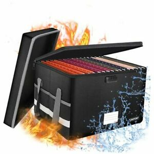 Fireproof File Box With Lock Locking File Box With Lid collapsible File