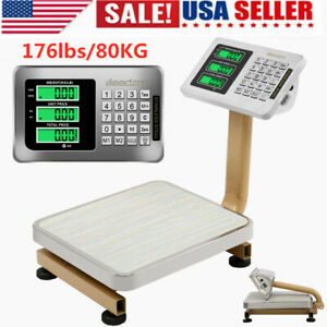 Leadzm Digital Lcd Platform Scale Weight Shipping Floor Postal Scale 176lbs 80kg