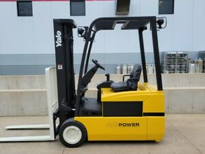 Yale Erp040thn36te082 Electric 3 Stage Mast Forklift Narrow Aisle Hyster Compact