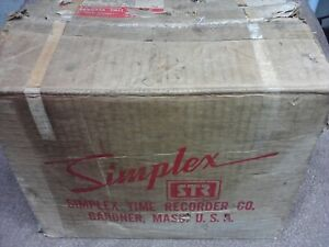 Vintage Simplex Time Recorder Electric Time Date Clock Stamp Time Punch