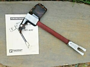 Paratech Pry Axe Forcible Entry Tool Firefighting Pryaxe Halligan Bar And Manual