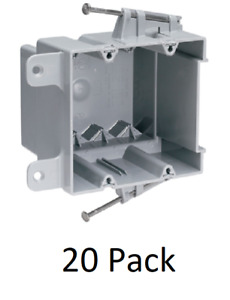 20 Pack Legrand 2 gang 35 Cubic Inch New Work Outlet Switch Electrical Box