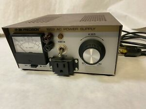 B k Precision 1653 Variable Ac Power Supply Tested working Good Condition