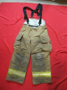Mfg 2007 Lion Janesville 36r Firefighter Turnout Bunker Gear Pants Rescue Tow