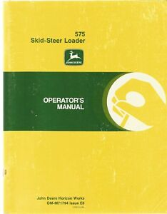 John Deere 575 Skid steer Loader Operator s Manual