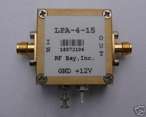 100 5000mhz Wideband Rf Amplifier Lpa 4 15 New Sma