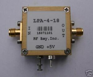 60 4000mhz Wideband Rf Amplifier Lpa 4 18 New Sma