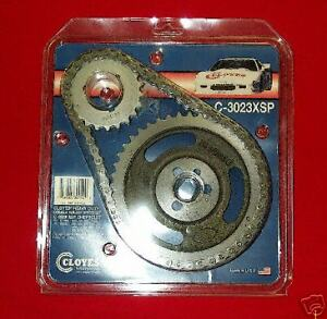 Small Block Chevy Cloyes Double Roller Timing Chain Gear Set 3 Keyway C3023xsp