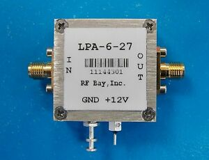 50 6000mhz Wideband Rf Amplifier Lpa 6 27 New Sma