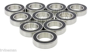 10 Miniature Bearing 6801 2rs 12mm X 21mm X 5 Bearings