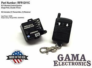 Rf Remote Control System Single Pole Double Throw Control Rfr12v1c