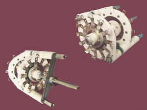 High Voltage Ceramic 2 Wafer make break Rotary Switch