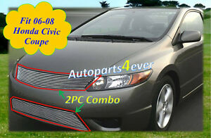 06 2006 07 08 2008 2007 Honda Civic Coupe New Billet Grille Combo