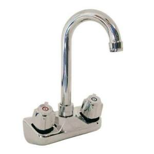 Faucet Hand Sink Wall Swivel Goose 4 Centers 13120