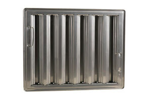 Exhaust Hood Grease Filter Baffle 16x20 Stainless 31260