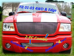 01 02 03 2002 2003 Ford Ranger New Billet Grille Combo