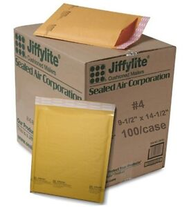 100 4 9 5 X 14 5 Sealed Air Jiffy Bubble Padded Mailers Shipping Envelopes