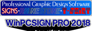 Sign Making Software Winpcsign 2018 Design Plotters t shirt Vector Clipart