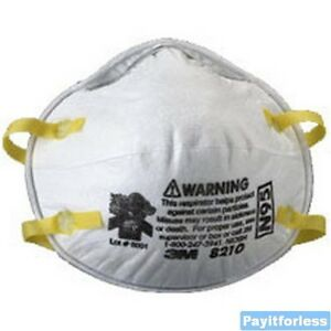 3m 8210 Dust Mask Respirator Niosh Approved N95 160pc