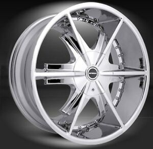 20 Strada Pistola Chrome Wheels Landcruiser Sequoia 6x139 7