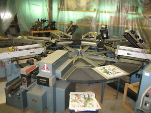 Horizon 6 color Uv Screen Printing Press 24x24 Image