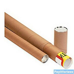 2 X 24 Kraft Telescoping Shipping Mailer Mailing Storage Postal Tubes 25 Pc