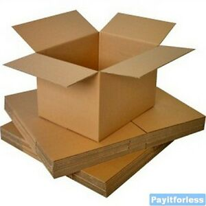 8 X 8 X 4 Kraft Shipping Corrugated Storage Mailing Postal Boxes 25 Pc