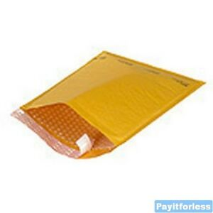 8 5 X 14 Kraft 3 Bubble lined Self seal Mailer Envelopes 25 Pc