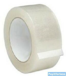 2 X 1000 Yds 1 88 Mil Clear Acrylic Box Packaging Carton Sealing Tape 6 Rolls
