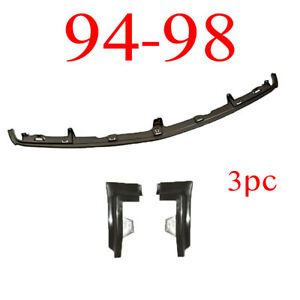 94 98 Chevy 3pc Center Bumper Filler Extension Kit Gmc Truck Complete Set