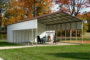 Pre fab barns steel Buildings carports garages rv Ports sheds utility Building