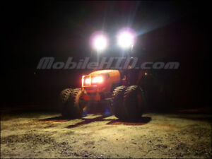 Tractor Hid Lights For Deere Kubota Case Cat 512sw