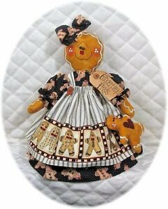 Primitive Standing Gingerbread Doll W Baby Pattern 112