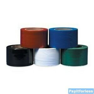 3 X 1000 80 Ga Green Cast Wrap Bundling Stretch Film Dispenser 18 Rolls