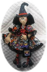 Primitive Raggedy 29 Halloween Witch Cat Pattern 117