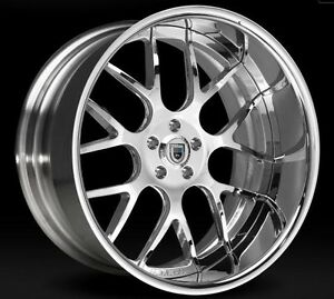 22 Inch Asanti Af 174 Bmw 750 745 645 650 Chrome Staggered Wheels With Tires