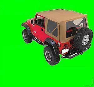 Soft Top Canvas 3 Tinted Windows Pair Of 769301 97 06 For Jeep Wrangler