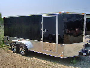 7 X 14enclosed Cargo Bike Trailer harley Davidson Decal