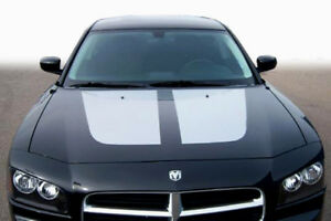 2006 2010 Dodge Charger Hood Blackout Graphics Stripe Decal Kit 07 08 09 10