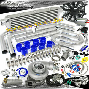 Huge 380 hps psi Boost Gt45 Universal Intercooler piping bov Turbo charger Kit