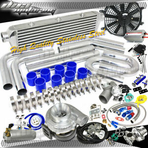 350 hps psi Boost T70 Universal Intercooler piping bov Full Turbo charger Kit