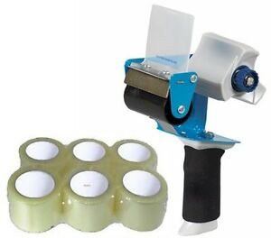 3 Comfort Grip Packing Tape Gun Tape Dispenser 6 Rolls 3 X 110 Packing Tape