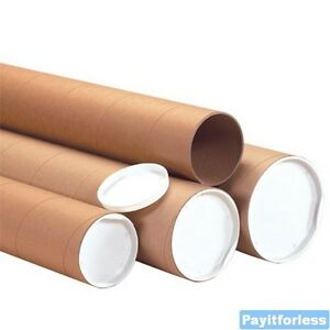 6 X 24 Kraft Heavy Duty Shipping Mailer Mailing Storage Postal Tubes 10 Pc