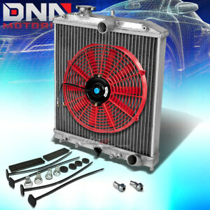 92 00 Civic Ej ek eg integra Db Dc 2 row Full Aluminum Racing Radiator red Fan