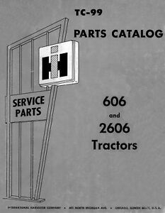 International Ih 606 2606 Farmall Parts Manual Tc 89
