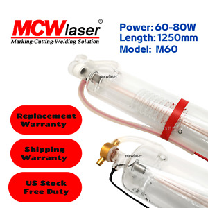 Mcwlaser 60w Peak 70w Co2 Laser Tube 1200mm For Engraving Cutting Ship From Us