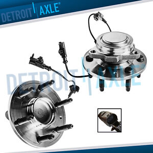2 Front Wheel Hub Bearing And Hub For 07 13 Chevy Silverado Gmc Sierra 1500 2wd