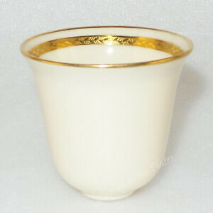 Lenox China E88 Demitasse Insert Liner 2 25 Gold Encrusted Sterling Silver Frame